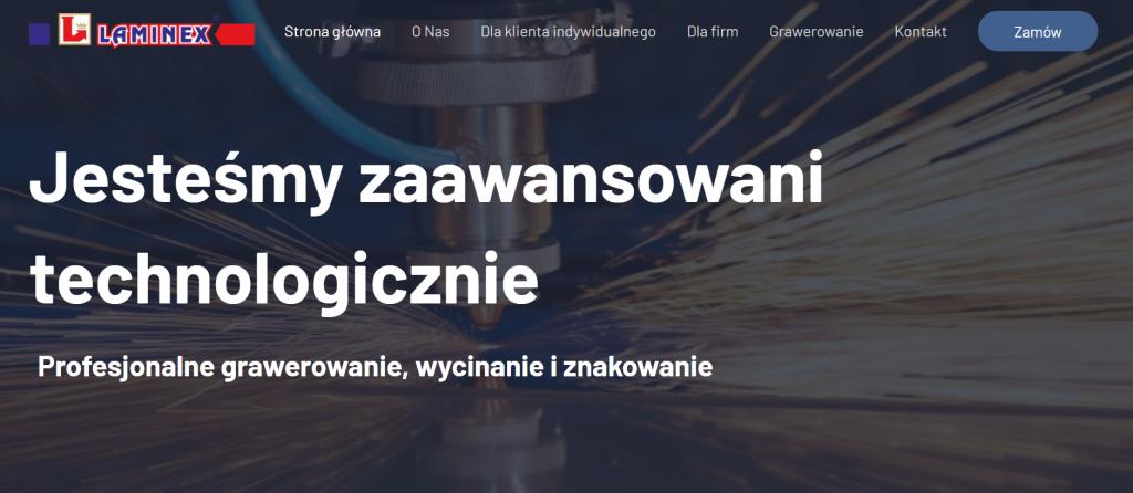 Strona internetowa laminex.eu